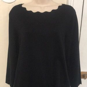 Cable and Gauge Black Sweater